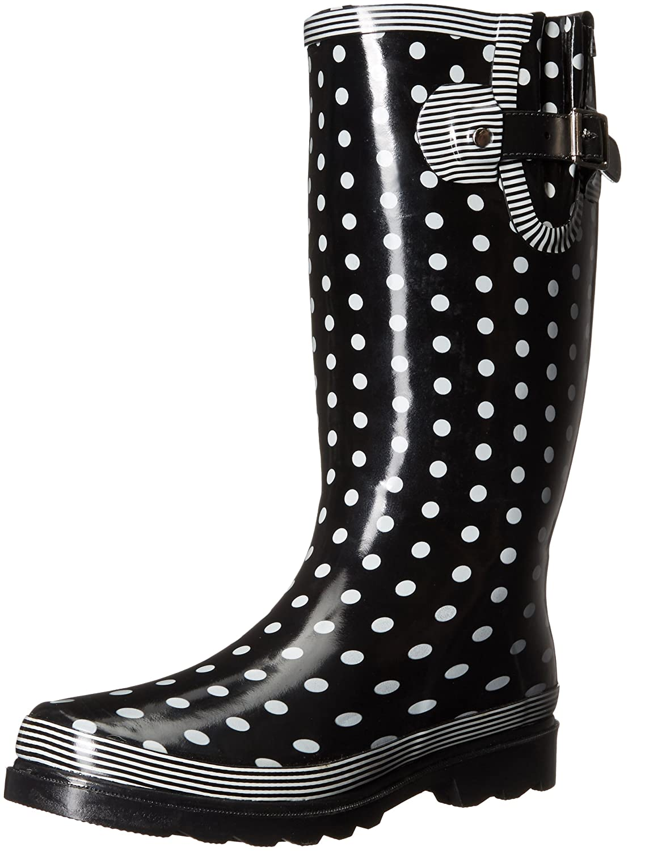 Western Chief Women's Waterproof Printed Tall Rain Boot B01EUI1NWQ 10 B(M) US|Pop Dots