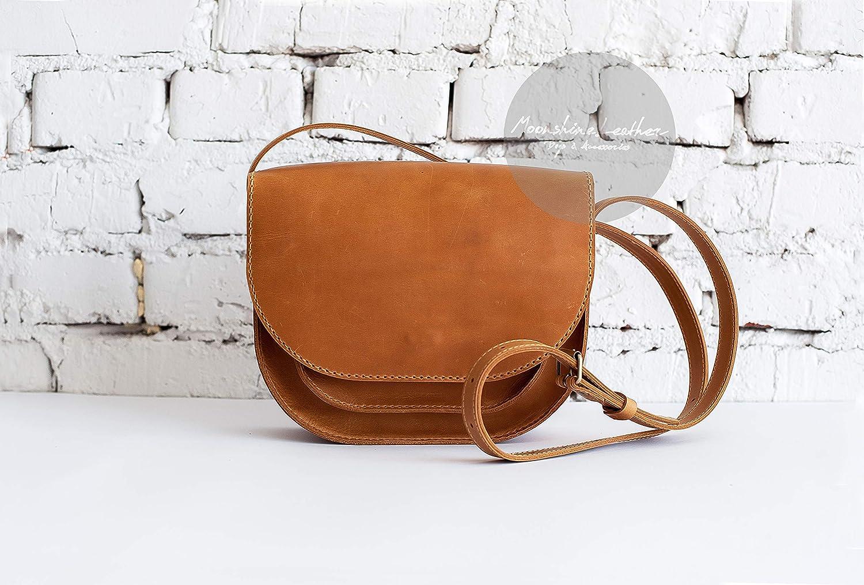 f2b17c95ee4 Amazon.com: YELLOW saddle bag Women leather bag Mini shoulder bag ...