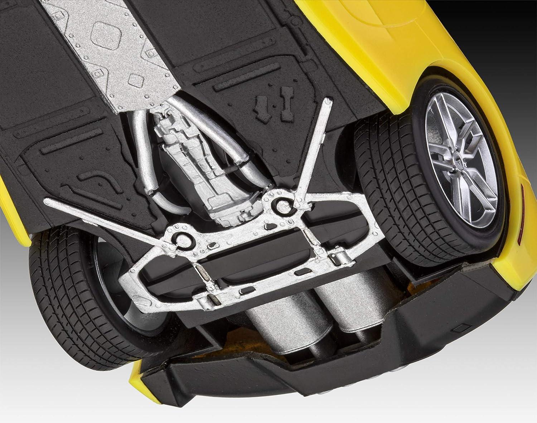 Revell GmbH 07449 7449 Revell 07049 7049 1:25 2014 Corvette Stingray Multicolour Plastic Model Kit 1//25 Easy-Click