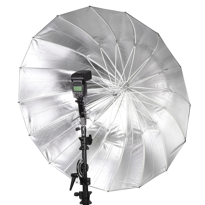 Selens 65 Inch 16 Rods Professional Photography Photo Studio Parabolic Reflective Lighting Umbrella, 23 Inch Depth Black/Silver by Selens (Image #6)