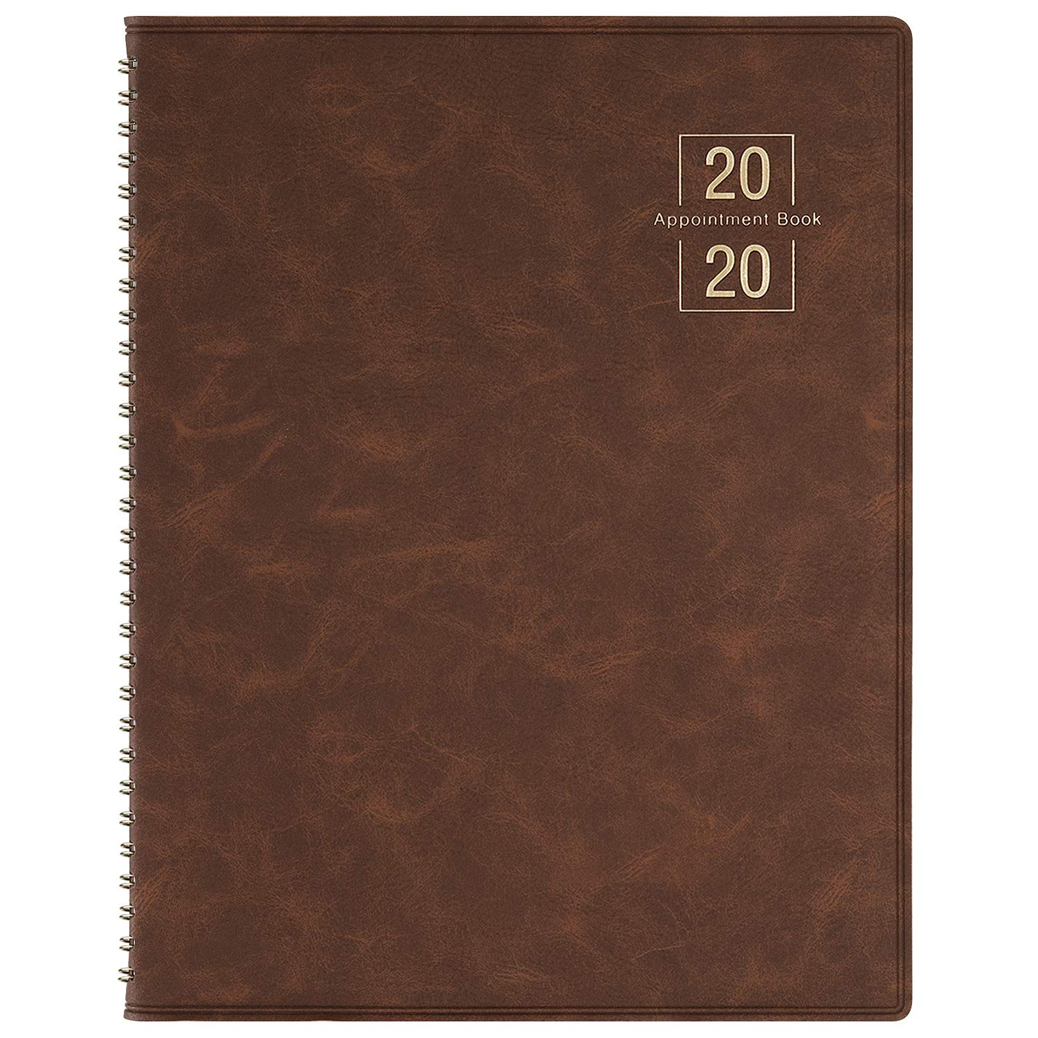 2020 Weekly Appointment Book/Planner - 53 Weeks Daily Planner Organizer, 15-Minute Increments, Flexible Cover, Twin-Wire Binding, 8.5