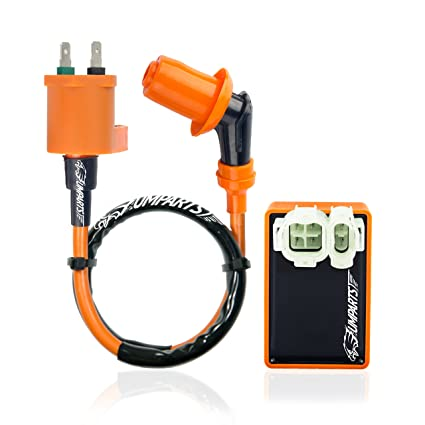 umparts universal hot fire high performance ignition coil spark plug a7tc  ac cdi for gy6 engine