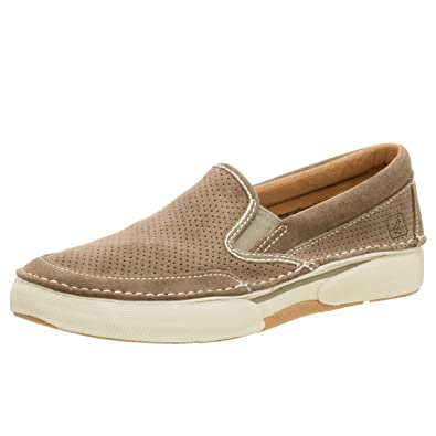 sperry top-sider shoes largo perforated loafers leather 90s