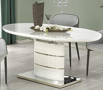 Table A Manger Ovale Extensible L 140 180 Cm X P 90 Cm X H