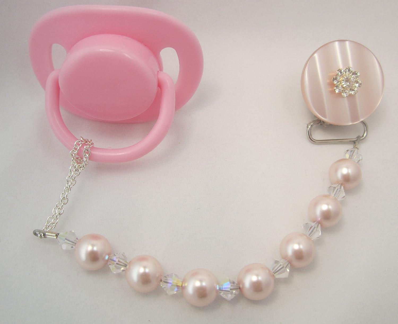 Crystal Dream lujo rosa Swarovski perlas y cristales con ...