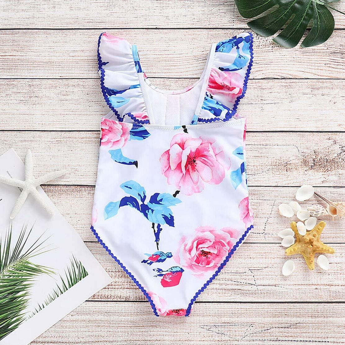 do.Cross Toddler Baby Kids Girls Cute Swimsuit Swimwear Retro Floral Print Bathing Suit