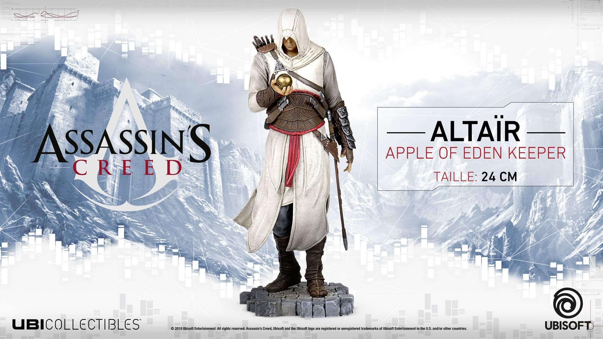 Assassin/'s Creed Altair Apple Of Eden PVC Statue UBISOFT