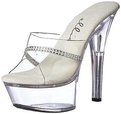 3974286e9c3 Ellie Shoes Women s 601-jesse Platform Sandal Clear 6 ...