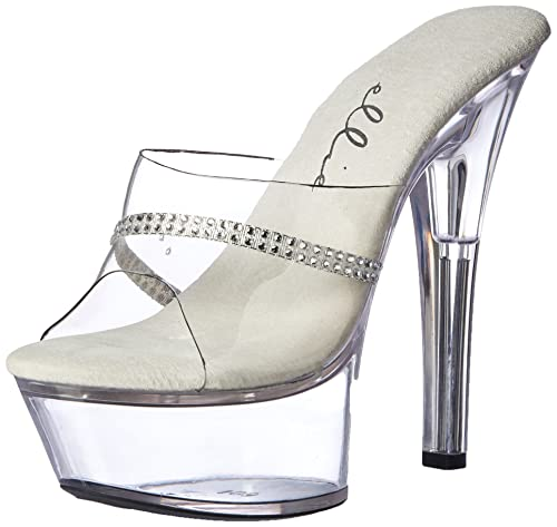 4e981df2220 Amazon.com | Ellie Shoes E-601-Jesse 6 Heel Clear Rhinestone Mule ...