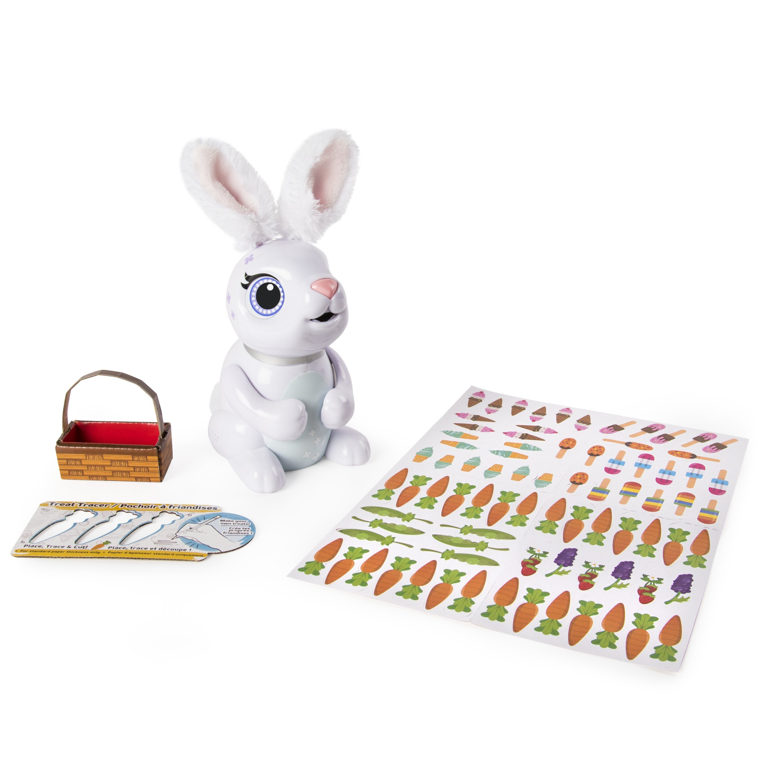 Zoomer Hungry Bunnies Chewy, Interactive Robotic Rabbit That Eats, Ages 5 & Up by Zoomer (Image #9)