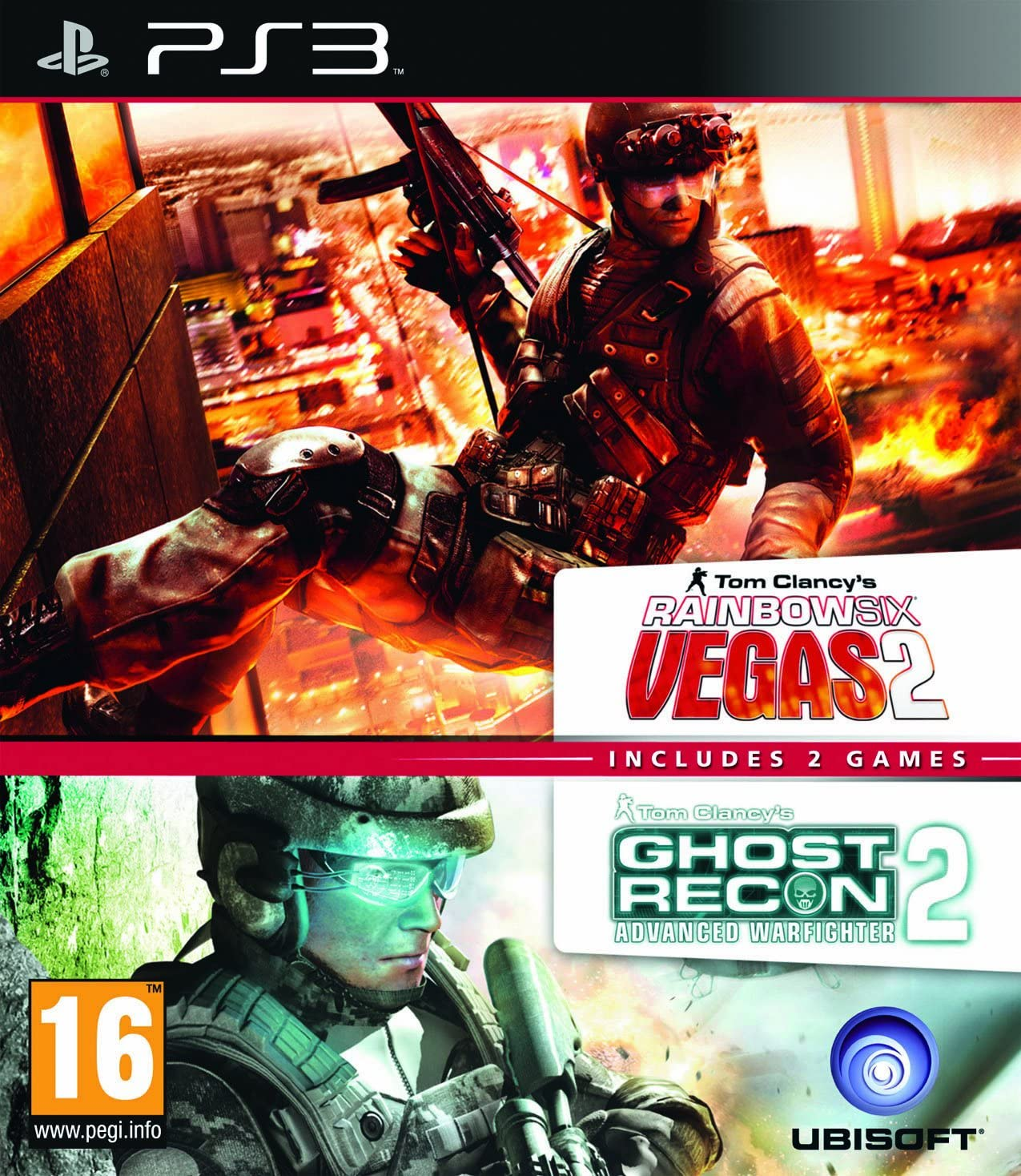 Ubisoft Double Pack - Rainbow Six Vegas 2 and Ghost Recon Advanced ...