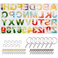 Alphabet Resin Molds Backward LET'S RESIN Letter Number Silicone Molds for Resin, Epoxy Molds for Making Keychain/House…