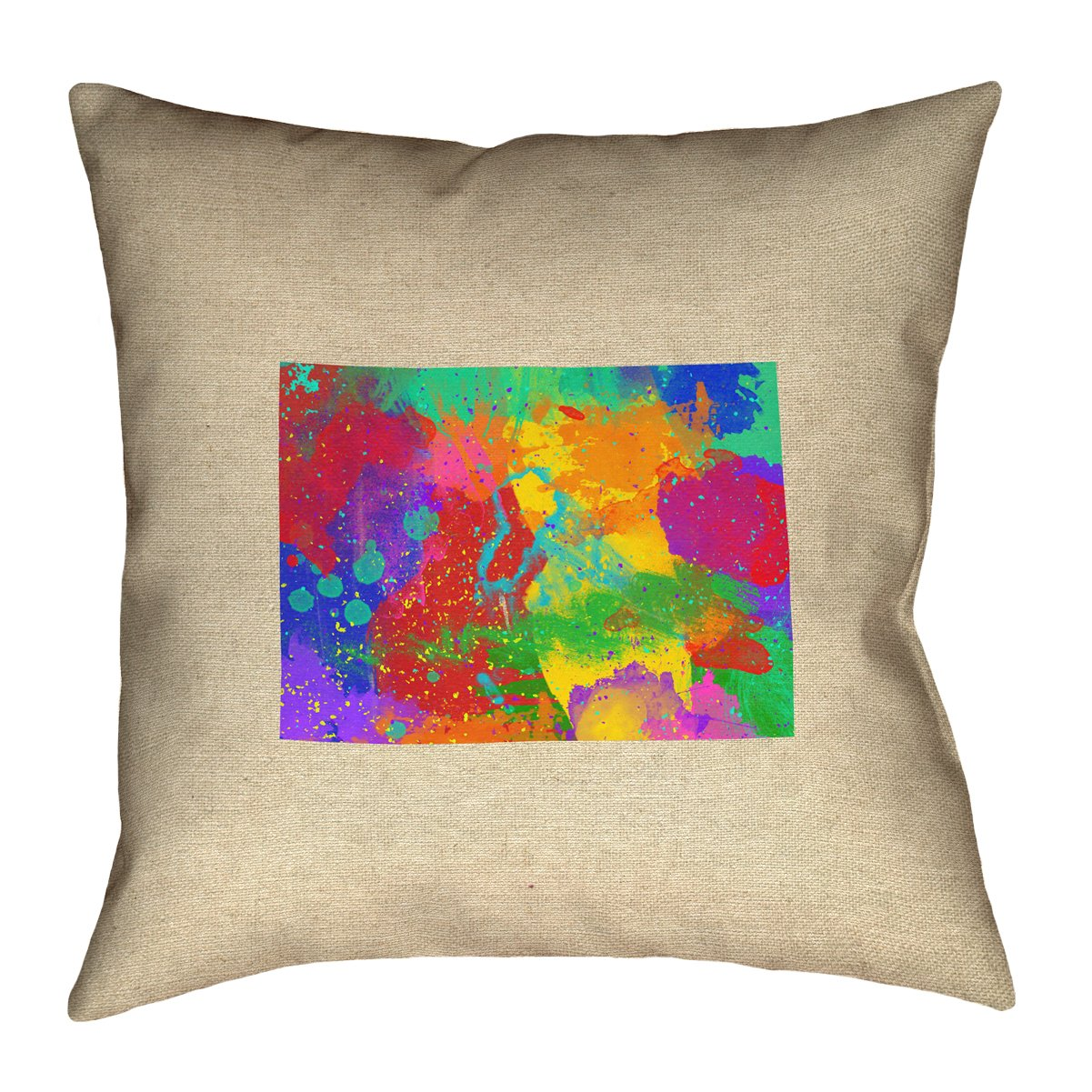 ArtVerse Katelyn Smith 26 x 26 Faux Suede Double Sided Print with Concealed Zipper /& Insert Colorado Watercolor Pillow