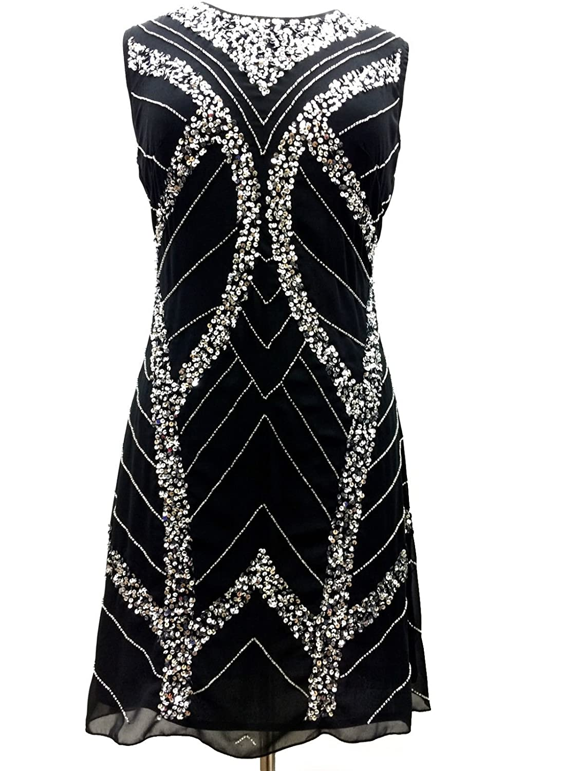 1920's Style Gatsby Tunic Top Evening Embellish Shift Dress Vintage Dress