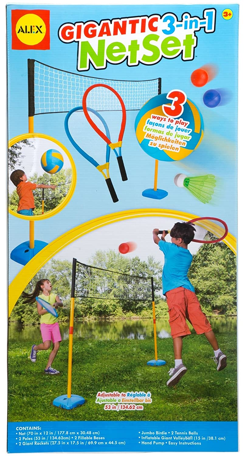 Alex Toys Active Play Gigantic 3 in 1 Net Set with Oversizedアクセサリー B00HZ0LBYC