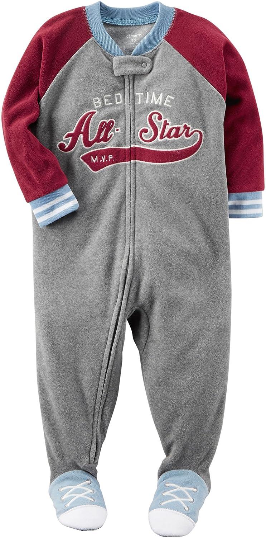 f512c4c35 Amazon.com  Carter s Boys  12M-8 Bedtime All Star Fleece Pajamas ...