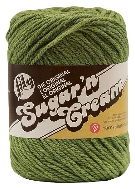 Lily Sugar/'N Cream Aran Knitting Wool Yarn 71g 0084 Sage Green