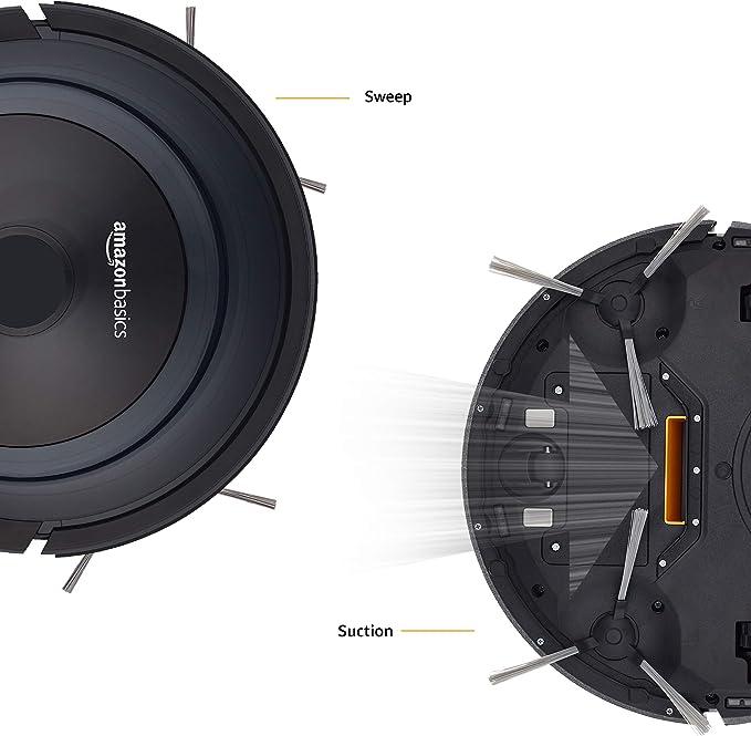 AmazonBasics - Robot aspirador fino, 18 W (800 Pa), con 4 modos de ...