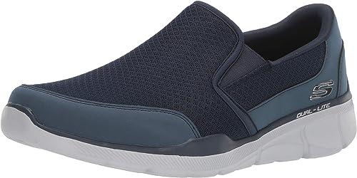 SKECHERS EQUALIZER 3.0 Sneaker uomo blu in tessuto