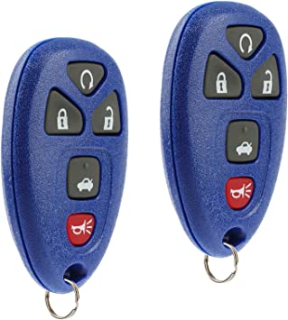 Key Fob Keyless Entry Remote with Ignition Key fits Cadillac DTS Chevy Impala Monte Carlo 2006 2007 2008 2009 2010 2011 2012 2013