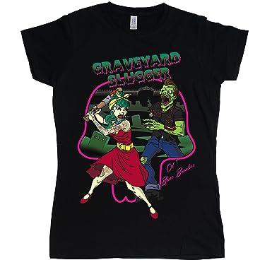 Rockabilly Graveyard Slugger T-Shirt Femme  Amazon.fr  Vêtements et ... 71c9712a98ce