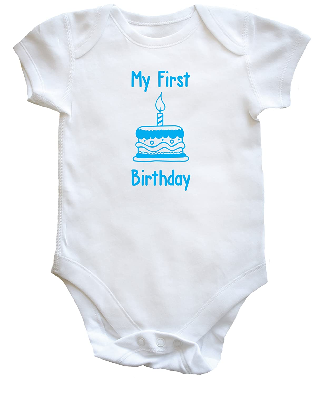 iiniim Infant Baby Boys Cotton First 1st Birthday Romper Bodysuit Short Long Sleeves Gentleman Outfit