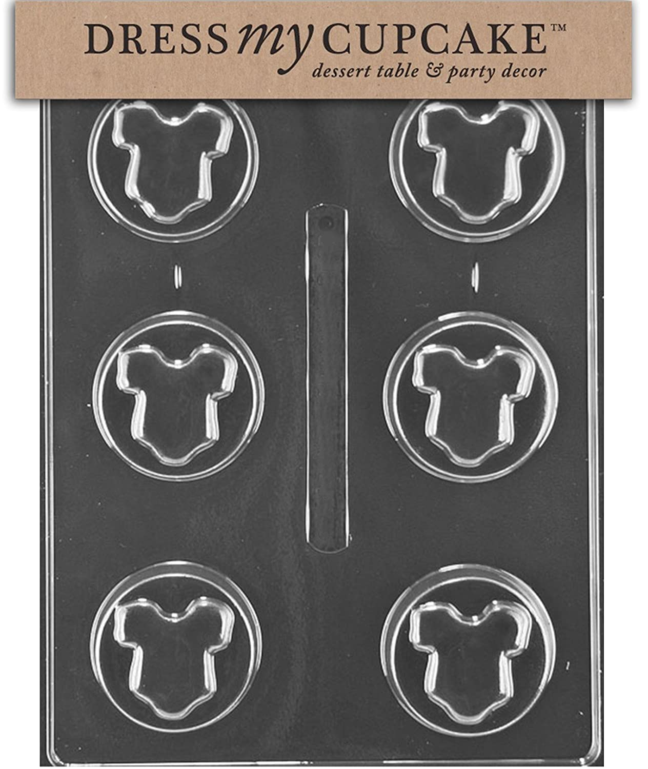 Amazon.com: Dress My Cupcake Chocolate Candy Mold, Baby Shower Onesie  Cookie: Candy Making Molds: Kitchen U0026 Dining