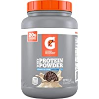 Gatorade Recover Whey Protein Powder, Cookies & Creme, 51 Oz (50 servings per canister, 20 grams of protein per serving)