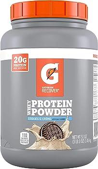Gatorade Recover Whey Protein Powder, Cookies & Creme, 51 Oz