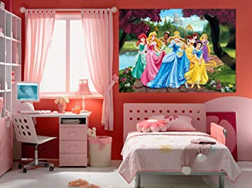Amazon.de: AG Design FTDm 0711 Disney Princess Prinzessinen, Papier ...