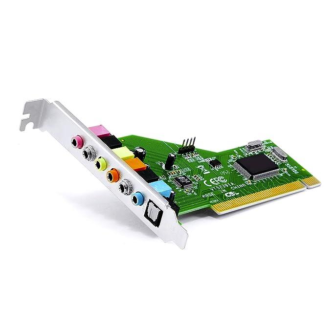 CSL - Tarjeta de Sonido PCI 7.1 - Tarjeta de 8 Canales con Sonido Surround + Salida óptica de Audio Toslink