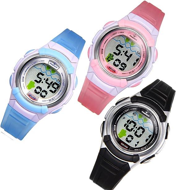 JewelryWe 3pcs Relojes de Pulsera para Niños Niñas Infantil, Reloj ...