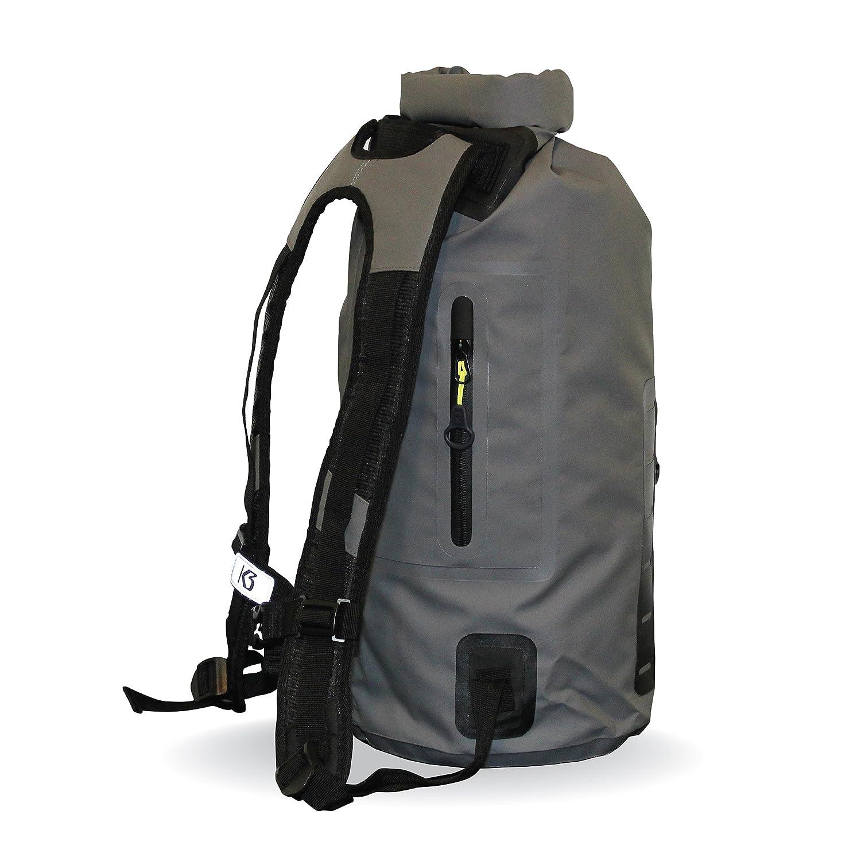 eebeb28f0c8a Amazon.com   K3 Drifter Waterproof Dry Bag Backpack Grey 20 Liter   Sports    Outdoors