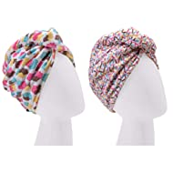 Turbie Twist Microfiber Hair Towel Wrap [2 Pack] – The Original Microfiber Hair Wrap As Seen On TV! Cupcakes and Sprinkles Hair Turban Towel Wraps – Plopping Towel for Long and Curly Hair Women
