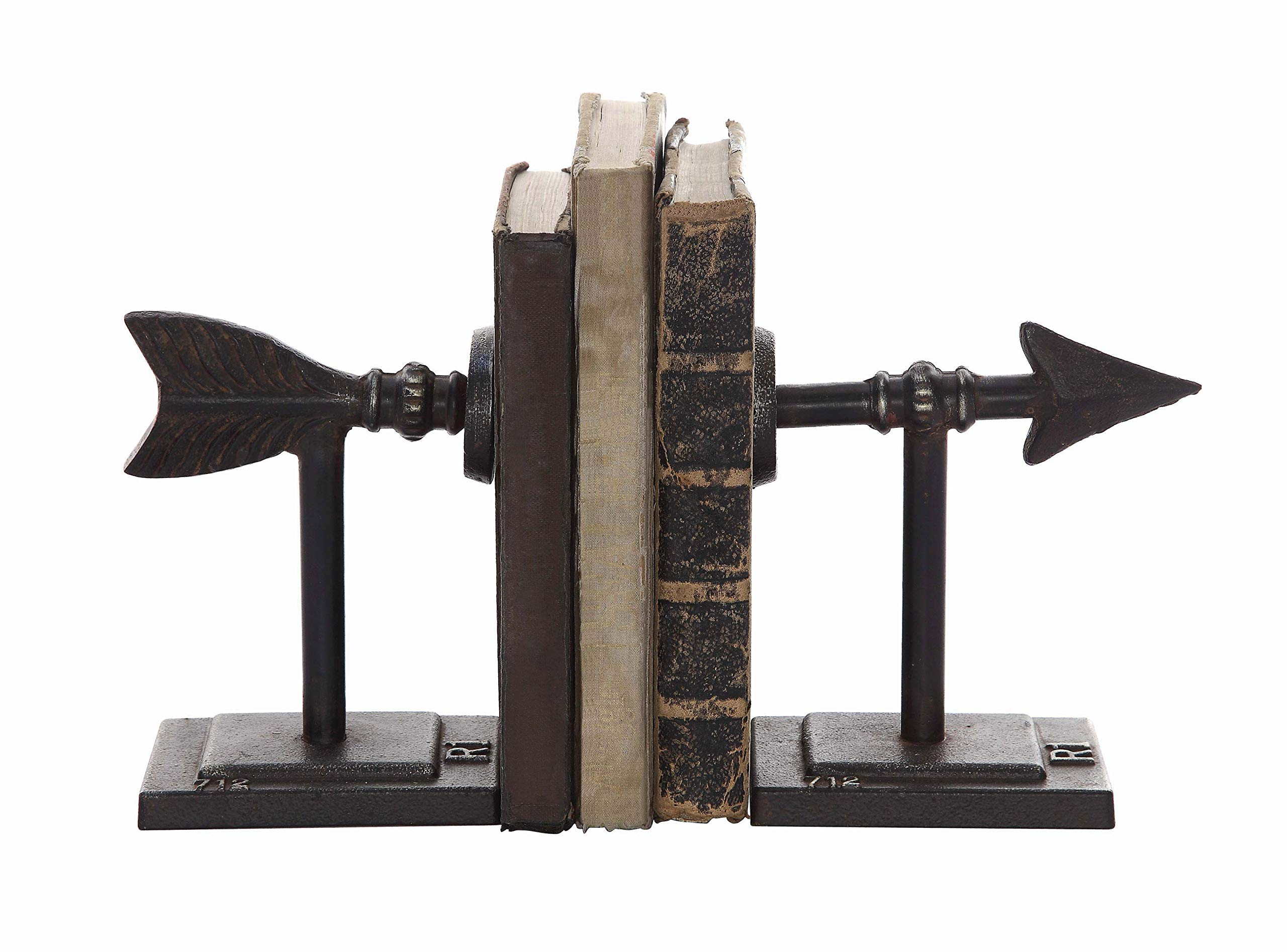 Creative Co-Op Cast Iron Metal Arrow Bookends by Creative Co-op