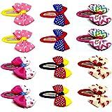 Gugzy® Handmade Bowknot Hair Clips Barrettes, Bow Barrettes Hair Snaps Bowknot Hair Clips for Baby Girls Kids Toddler, Bowtie Kids Hair Snap Clips