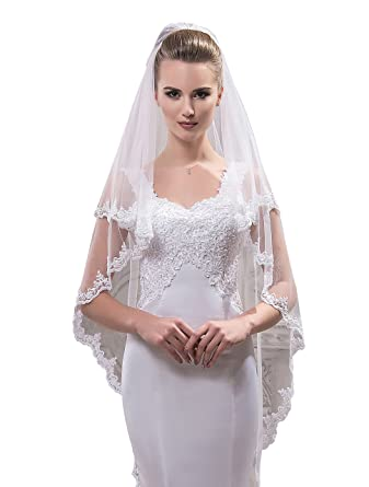 """Bridal Veil Ella from NYC Bride collection (short 30"""", ivory)"""