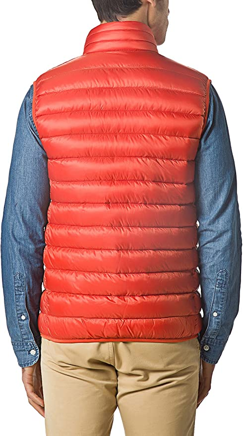 Wenhui Mens Lightweight Packable Down Puffer Vest Stand Collar Outdoor Insulated Sleeveless Jacket Outwear Color : Sky blue, Size : S
