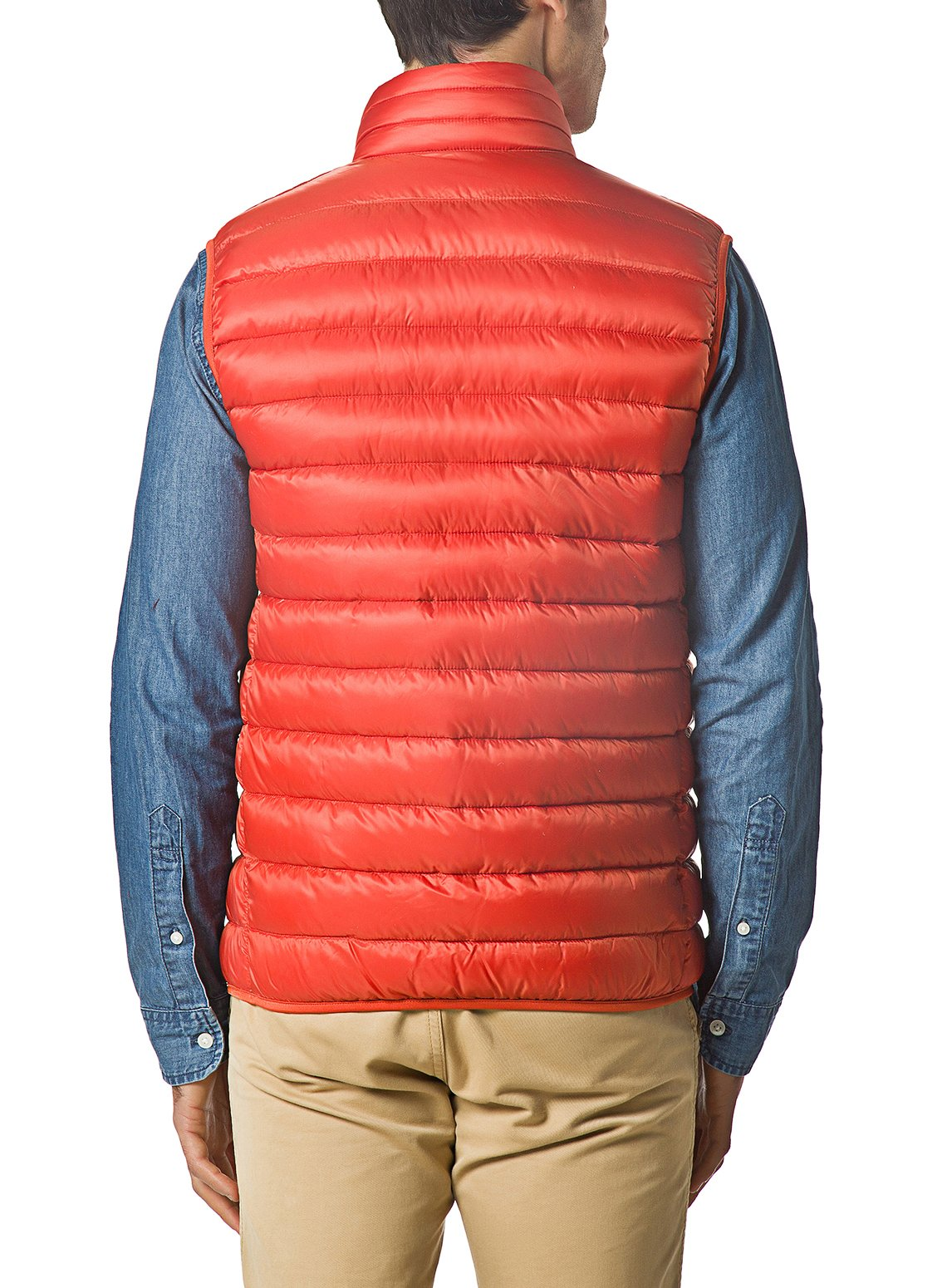 XPOSURZONE Men Packable Lightweight Down Vest Outdoor Puffer Vest Blazing Orange M by XPOSURZONE