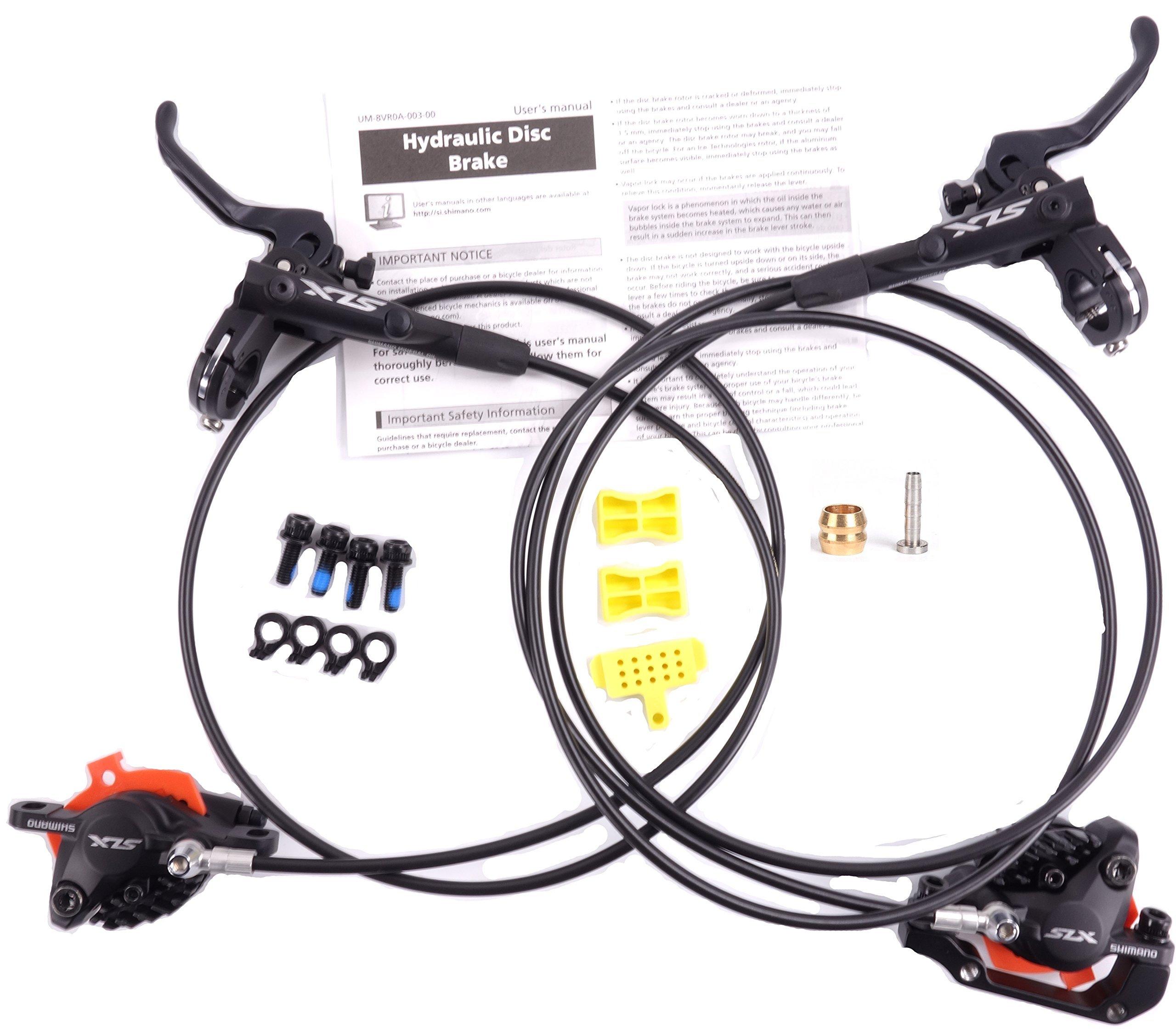 Shimano SLX M7000 Hydraulic Disk Brake MTB Front & Rear Set 1000mm/1600mm ice tech