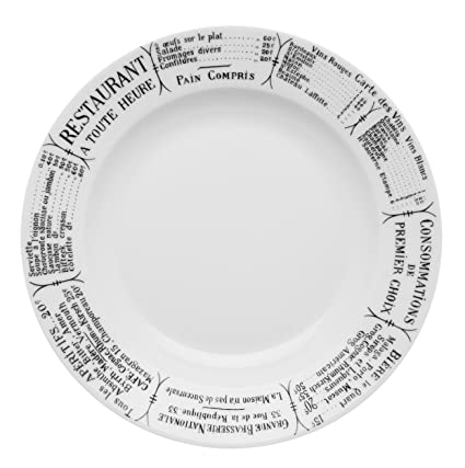 Amazon Com Pillivuyt Brasserie Plate 10 5 Dinner Plates Dinner