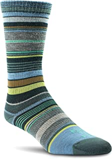 product image for Farm to Feet Ithaca Multi-Stripe Ultralight Crew Merino Wool Socks