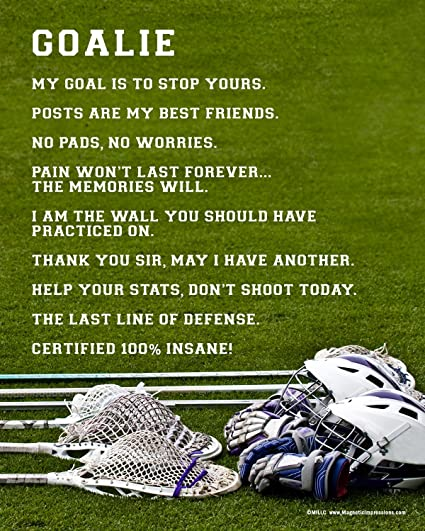 bd23a4cc3 Amazon.com   Posters and Prints by Magnetic Impressions Unframed Lacrosse  Goalie 8