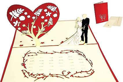 Lin 17536, Pop - Up 3d tarjeta boda tarjeta de felicitación ...