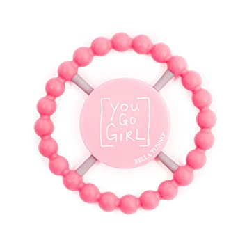 Silicone HAPPY Teether from Bella Tunno Baby 100/% FDA Approved FUNNY SAYINGS