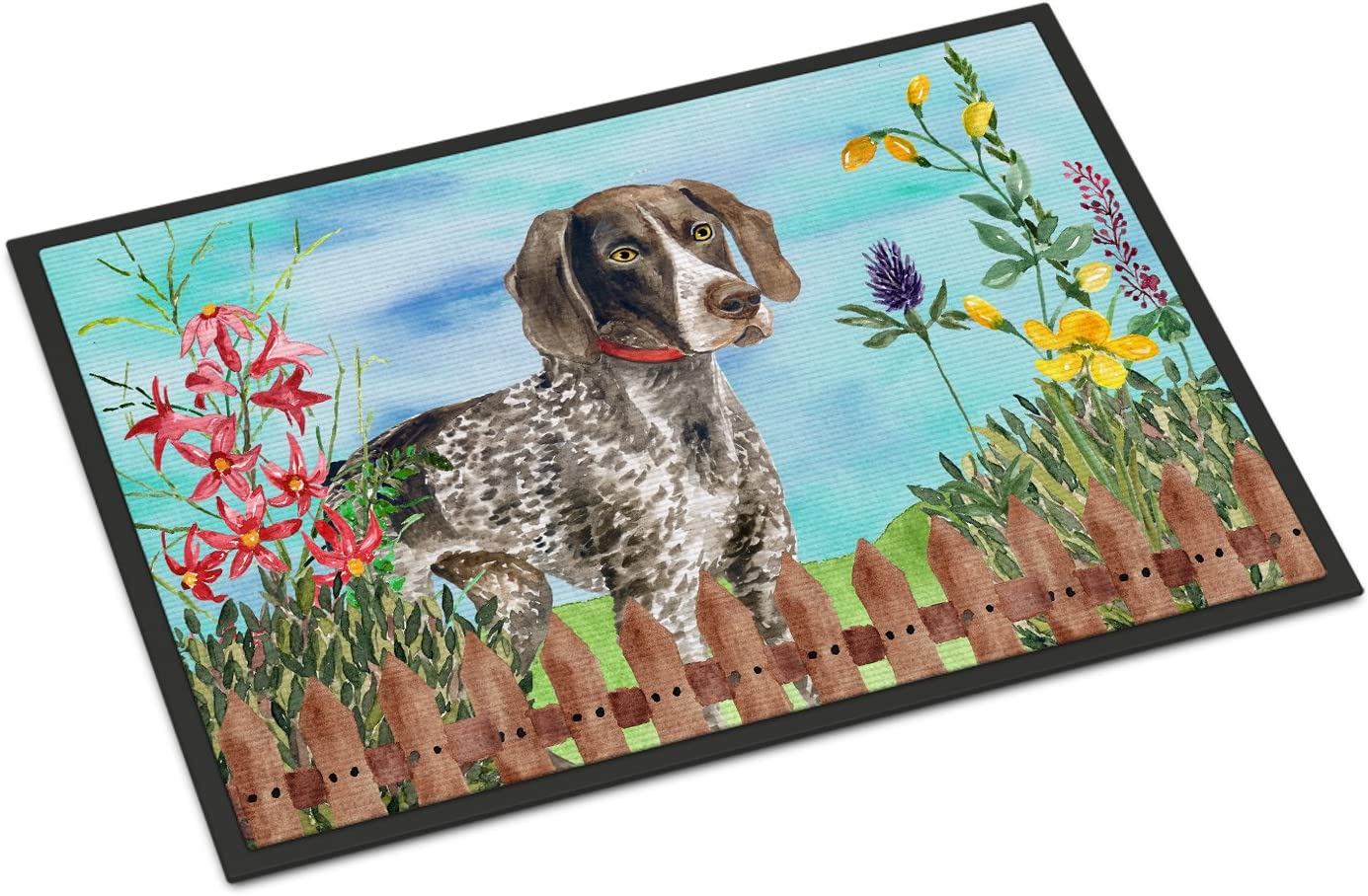 Caroline s Treasures CK1203MAT German Shorthaired Pointer Spring Indoor or Outdoor Mat 18×27, 18H X 27W, Multicolor