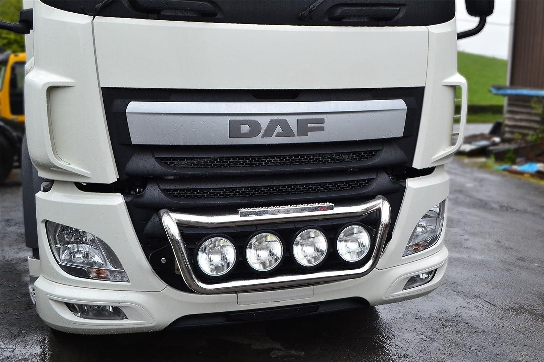 Bragan camión específica mano pulido acero inoxidable parrilla - Lámpara de techo + almohadillas de paso + 2 x ámbar laterales LED: Amazon.es: Coche y moto