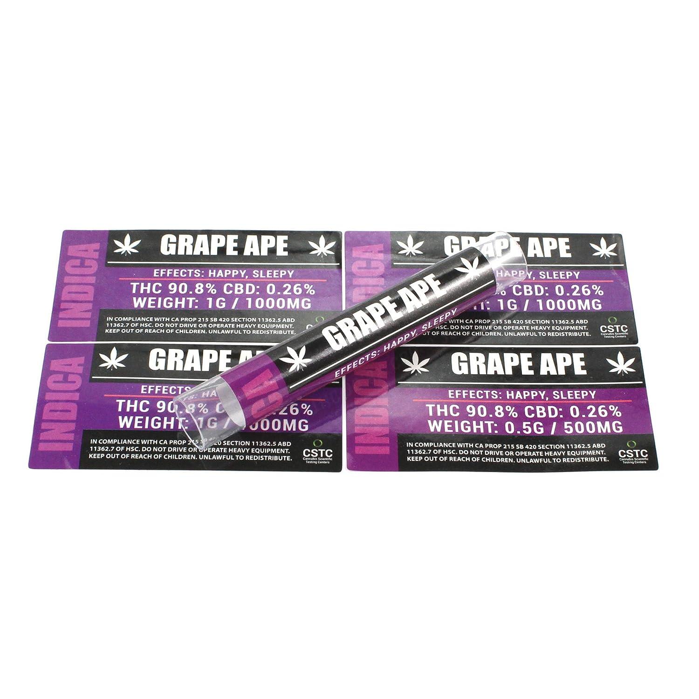Grape Ape Medical Dispensary Strain by粉砕ラベル0.50 G & 1.0 G Jar &チューブステッカーts-014 50 x 1.0G パープル B07FLDPJ91  50 x 1.0G