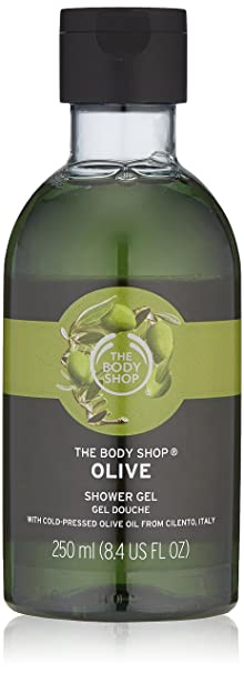 The Body Shop Shower Gel, Olive, 250ml Body Wash Gels at amazon