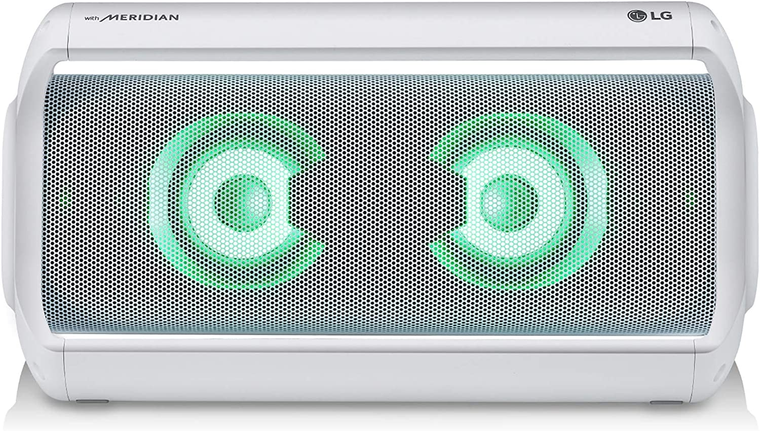 LG PK7W XBOOM Go Water-Resistant Wireless Bluetooth Party Speaker with Up To 22 Hours Playback - White (Renewed)